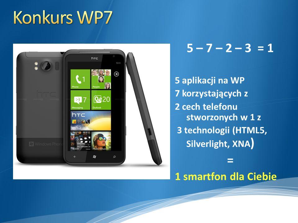 Konkurs WP7 5 – 7 – 2 – 3 = 1 = 1 smartfon dla Ciebie