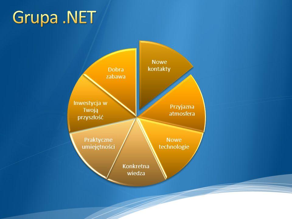 Grupa .NET Nowe kontakty Przyjazna atmosfera Nowe technologie