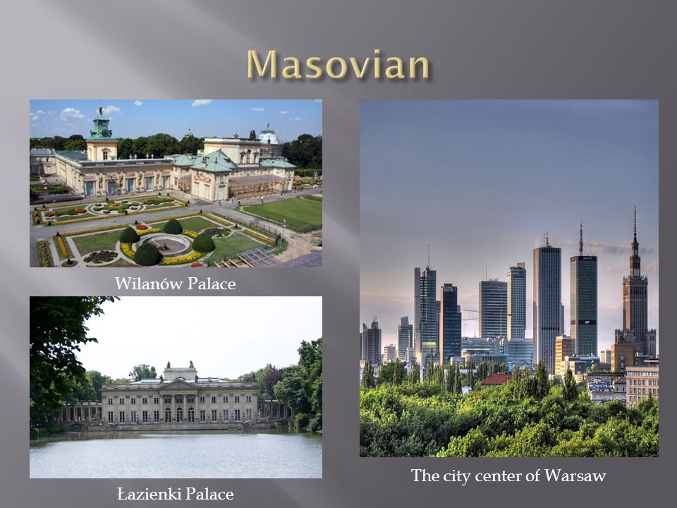 The city center of Warsaw