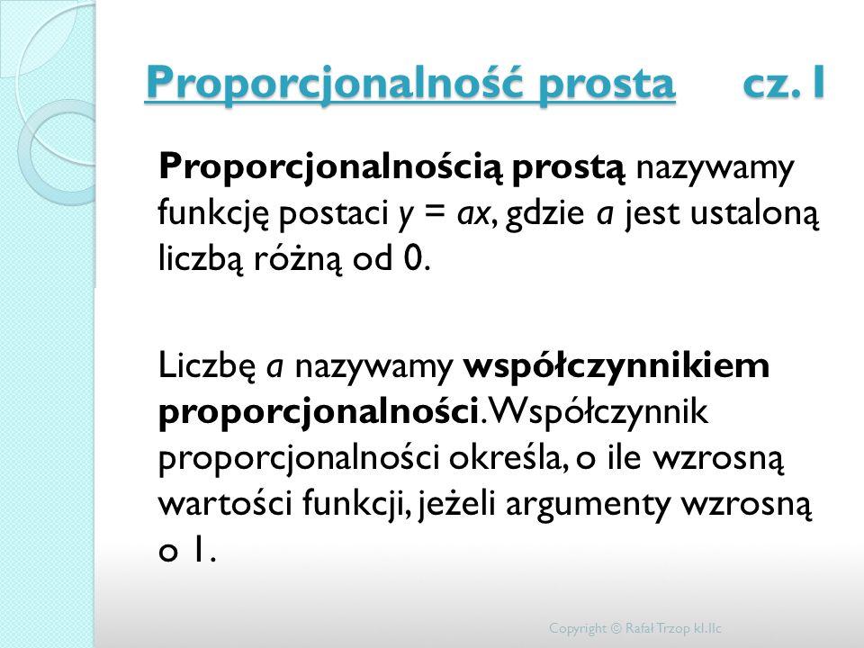 Proporcjonalność prosta cz. I