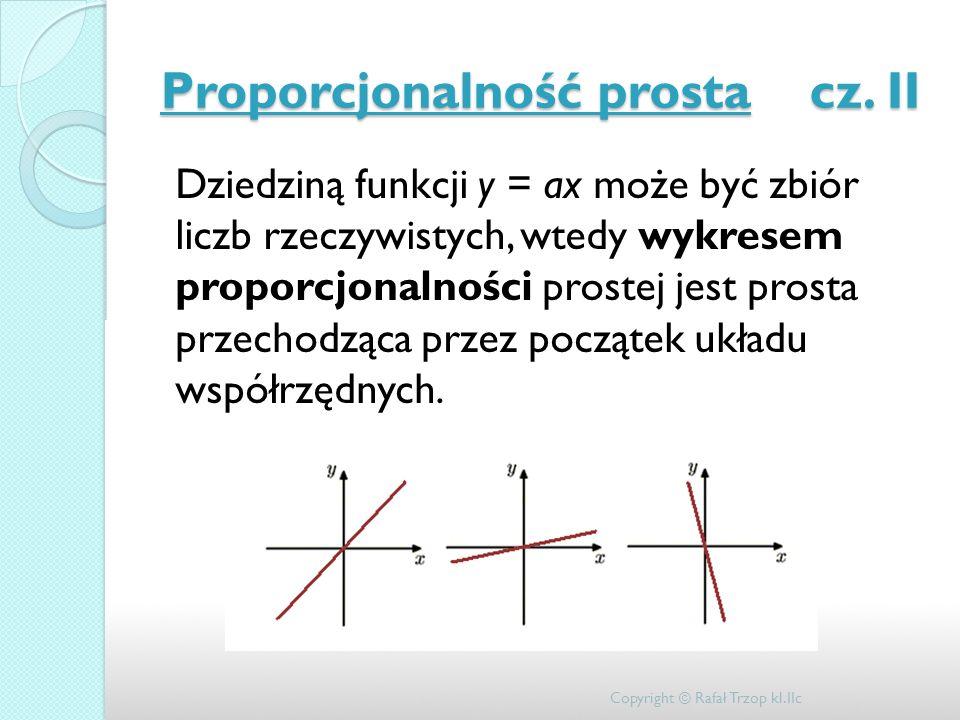 Proporcjonalność prosta cz. II