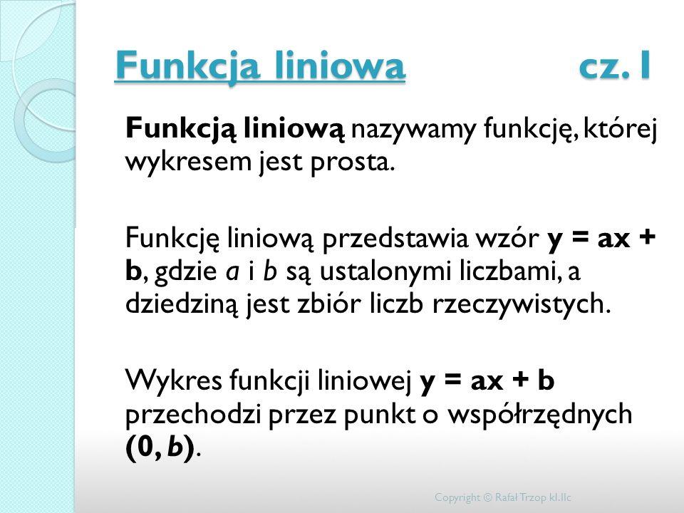 Funkcja liniowa cz. I