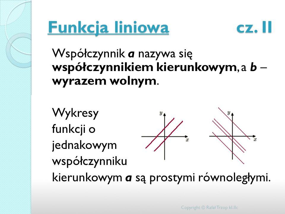 Funkcja liniowa cz. II
