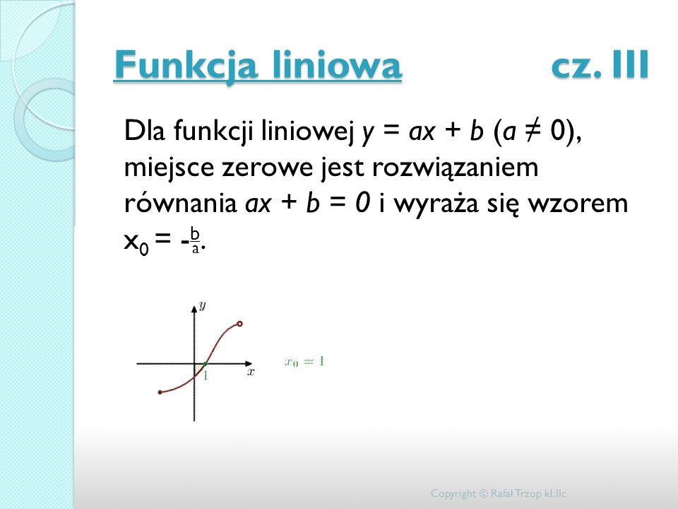 Funkcja liniowa cz. III