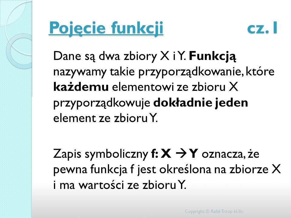Pojęcie funkcji cz. I