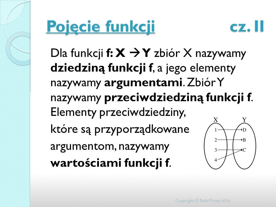 Pojęcie funkcji cz. II
