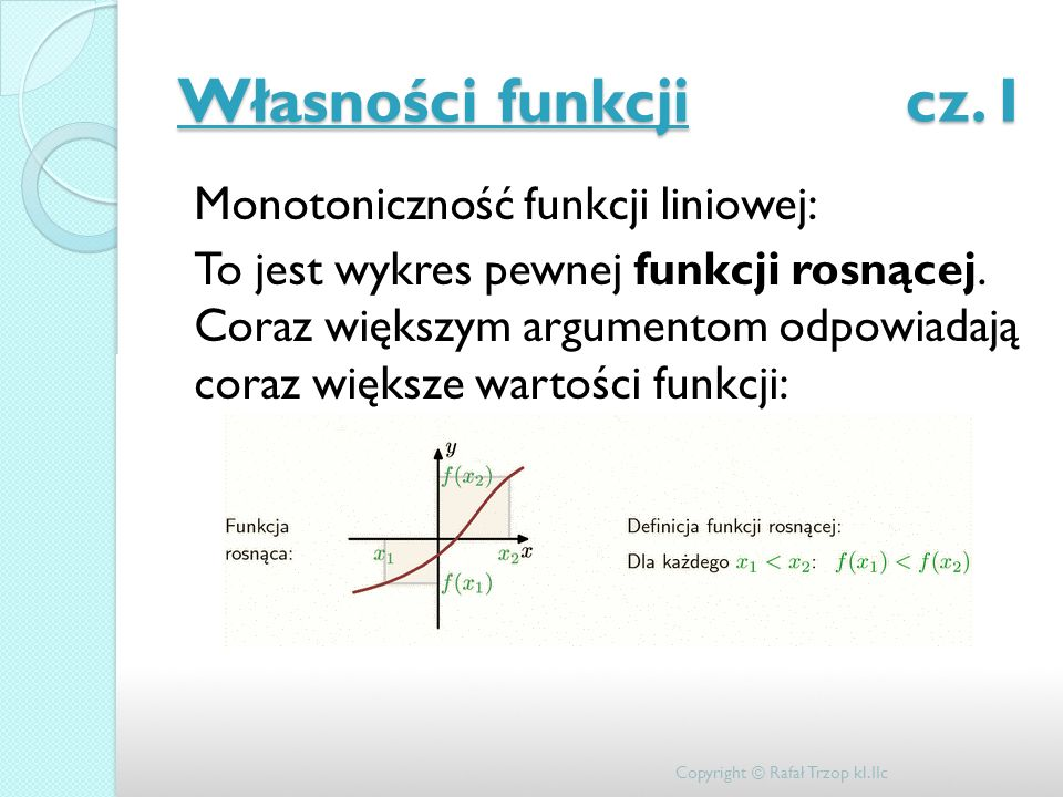 Własności funkcji cz. I