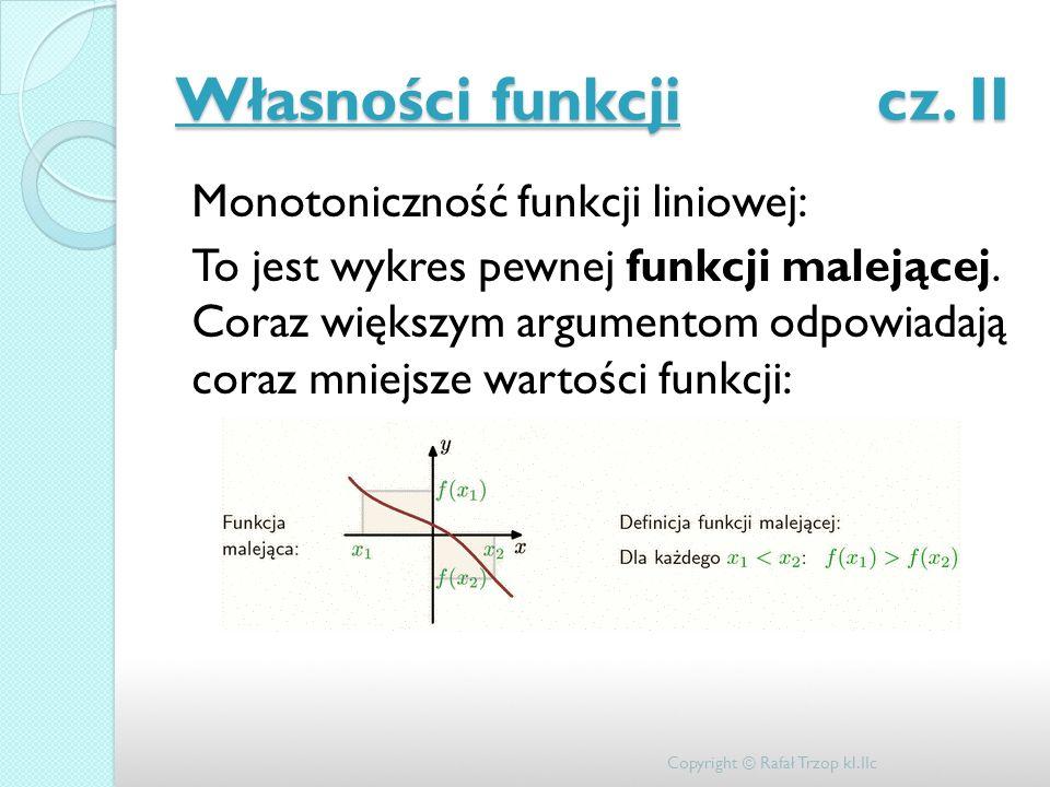 Własności funkcji cz. II