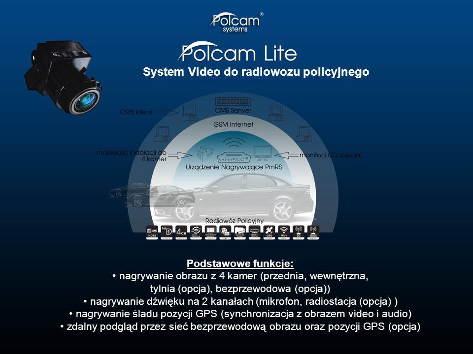 System Video do radiowozu policyjnego