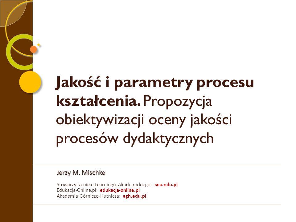 Jakość i parametry procesu kształcenia