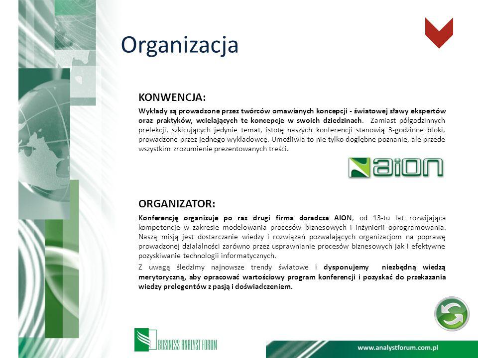 Organizacja KONWENCJA: ORGANIZATOR: