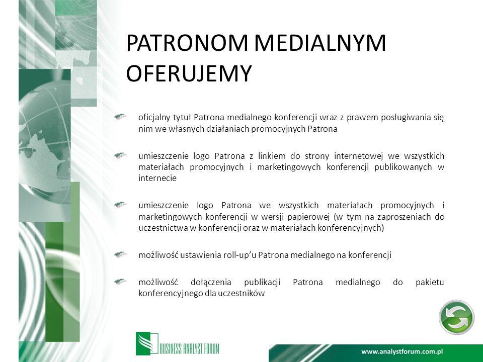 PATRONOM MEDIALNYM OFERUJEMY