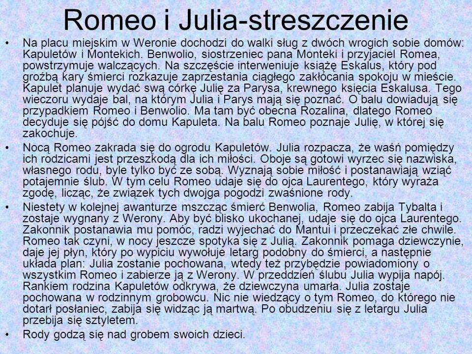 Romeo i Julia-streszczenie