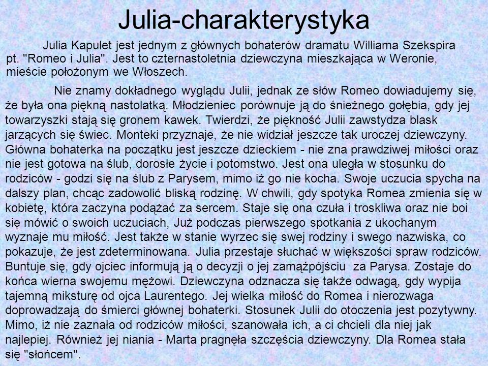 Julia-charakterystyka