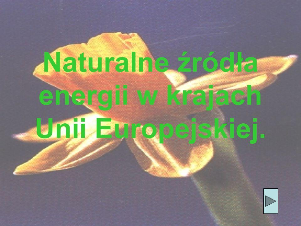 Naturalne źródła energii w krajach Unii Europejskiej.