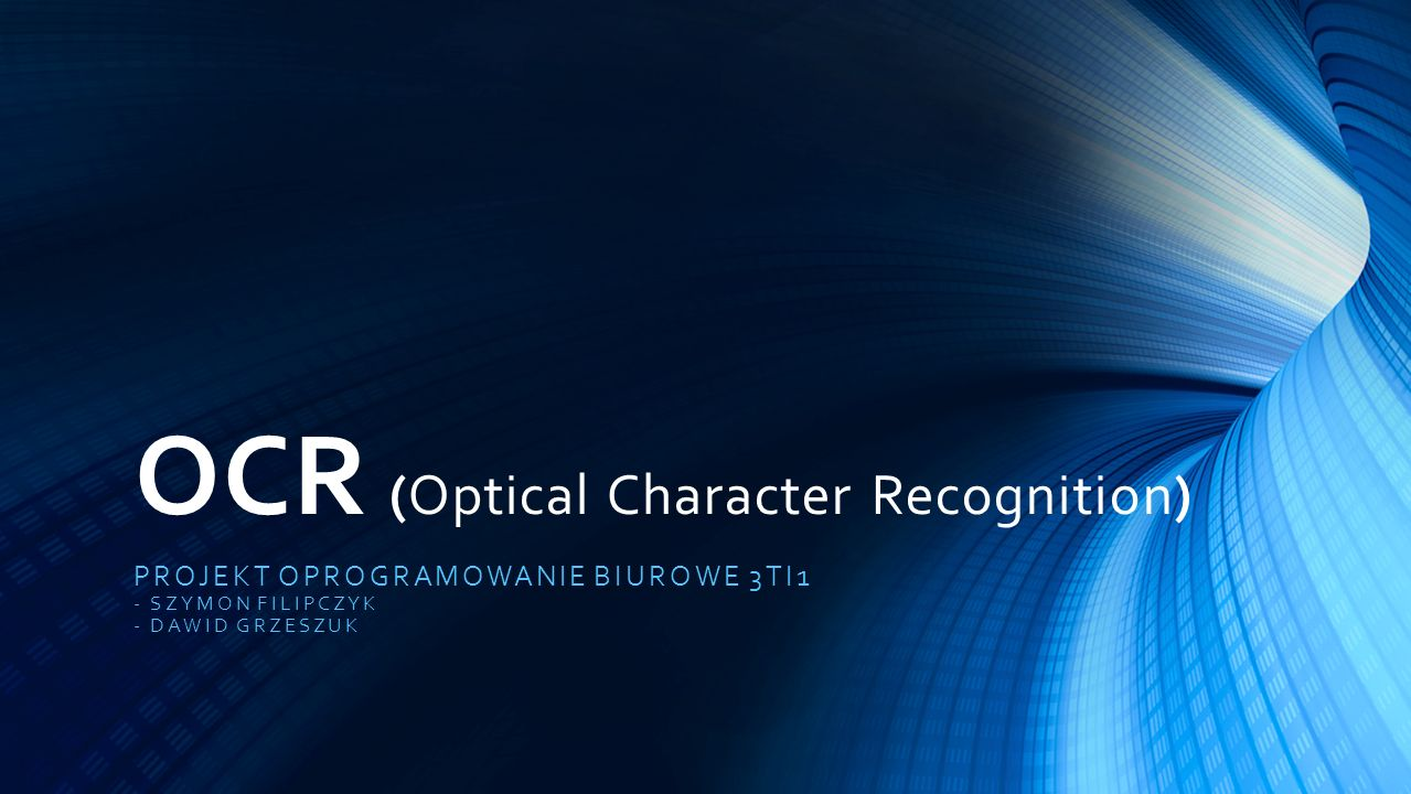 OCR (Optical Character Recognition)