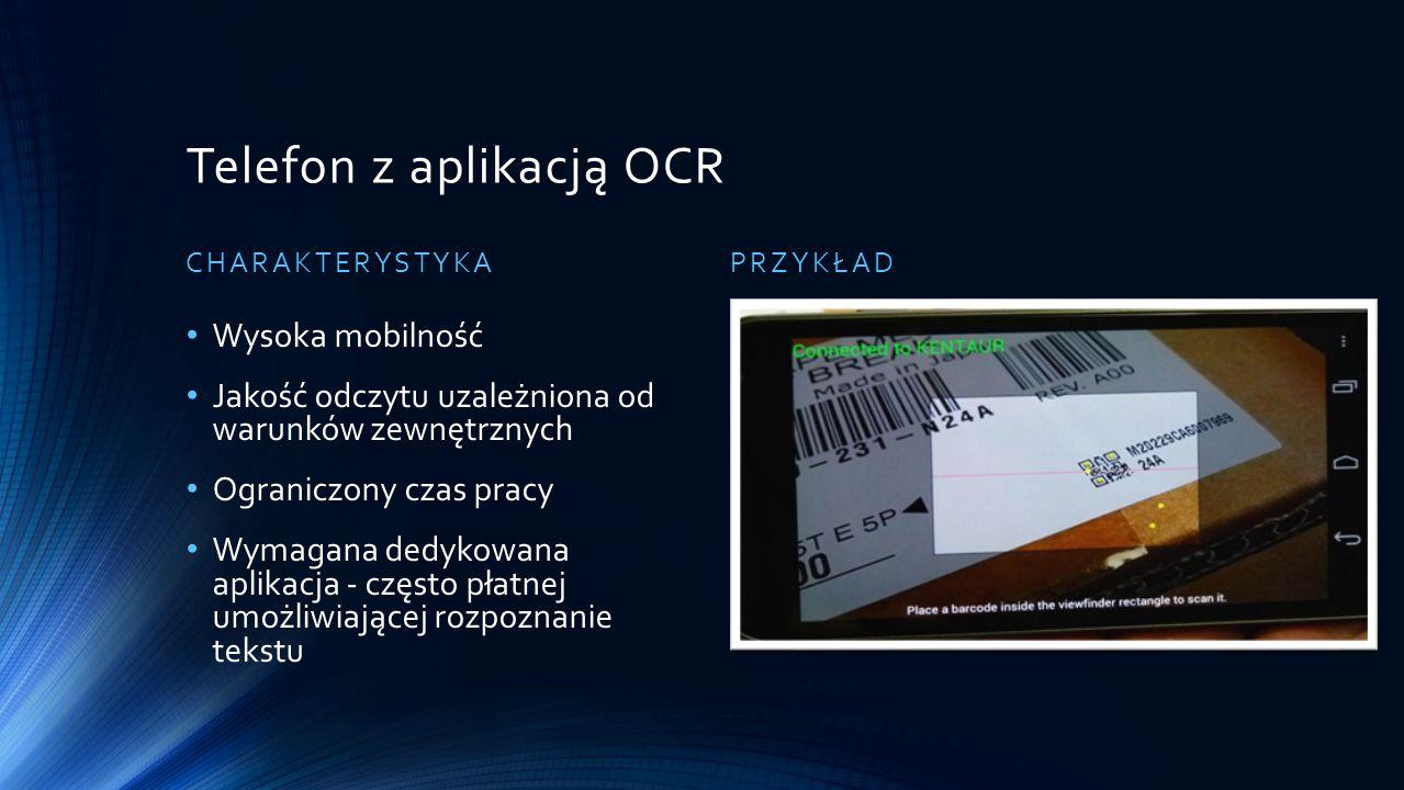 Telefon z aplikacją OCR