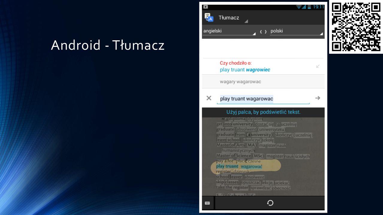 Android - Tłumacz