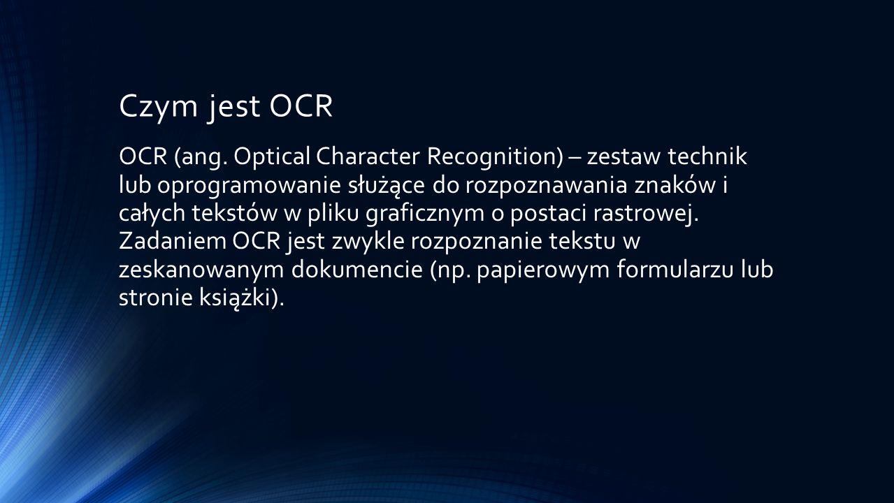 Czym jest OCR