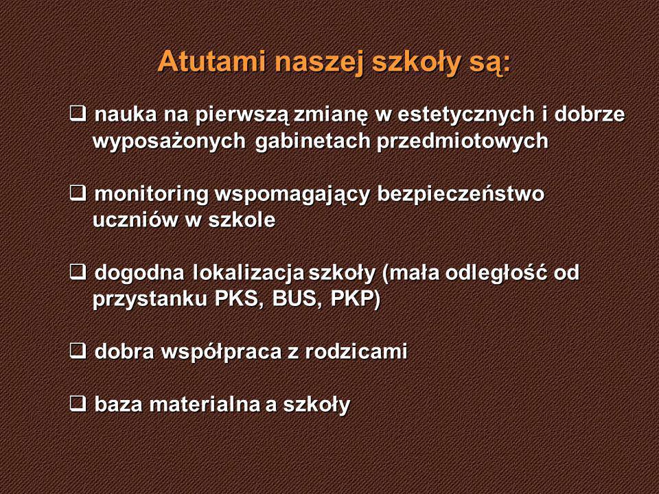 Atutami naszej szkoły są: