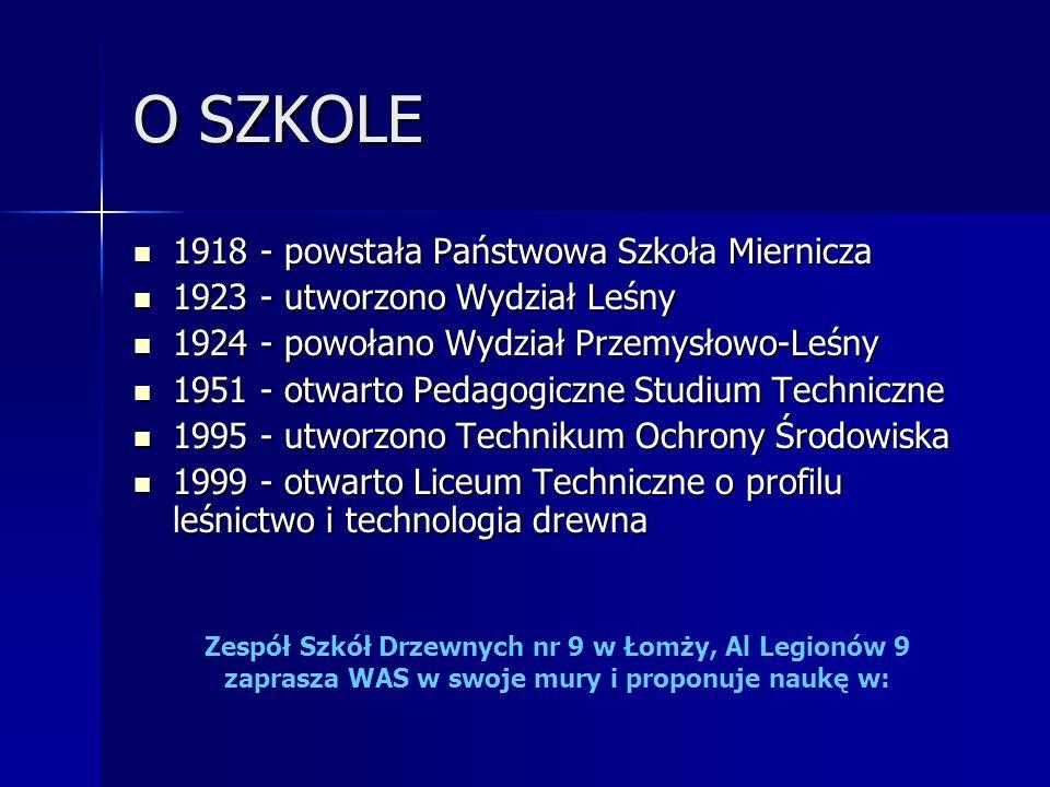 O SZKOLE 1918 - powstała Państwowa Szkoła Miernicza