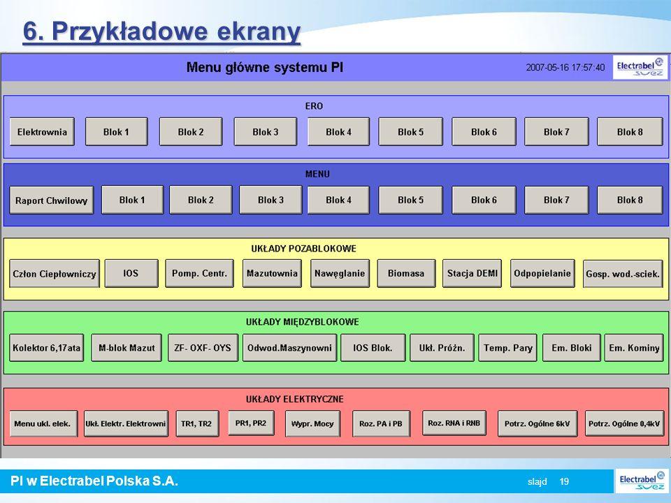 6. Przykładowe ekrany slajd