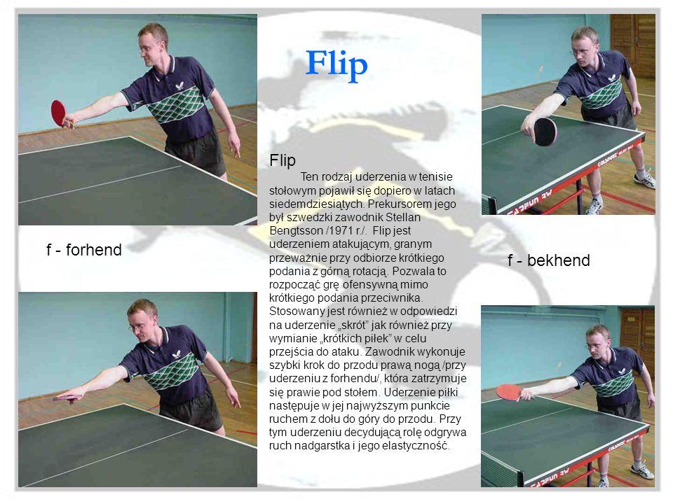 Flip Flip f - forhend f - bekhend