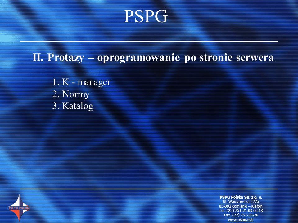 PSPG II. Protazy – oprogramowanie po stronie serwera 1. K - manager