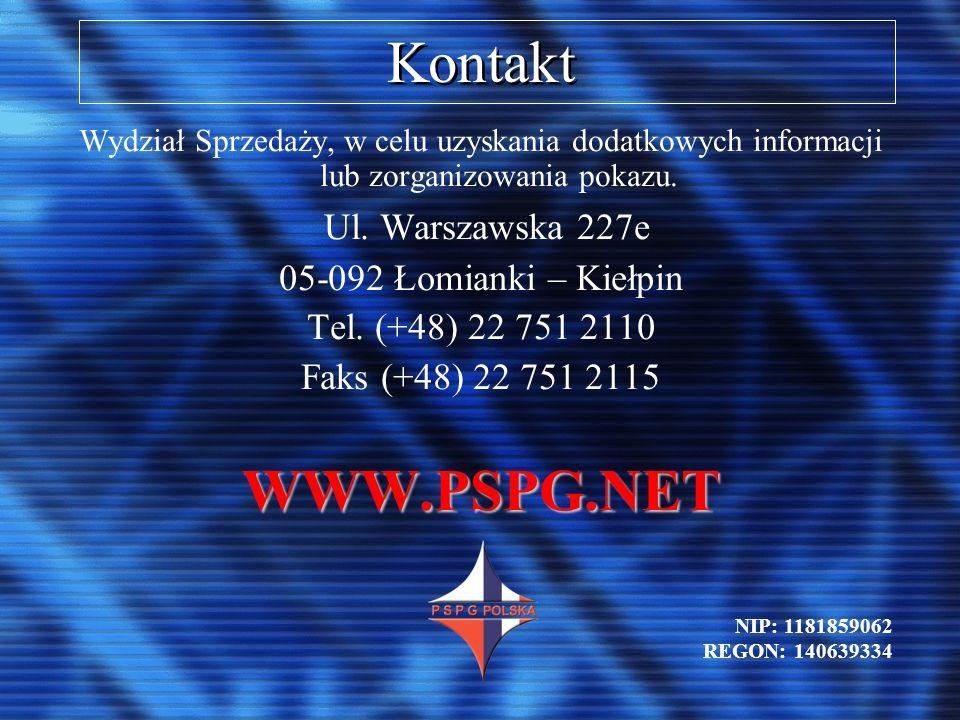 Kontakt WWW.PSPG.NET Ul. Warszawska 227e 05-092 Łomianki – Kiełpin