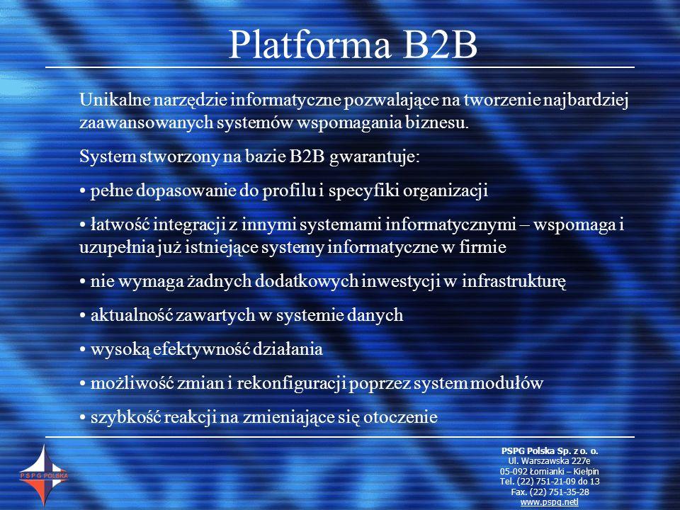 Platforma B2B Unikalne narzędzie informatyczne pozwalające na tworzenie najbardziej zaawansowanych systemów wspomagania biznesu.