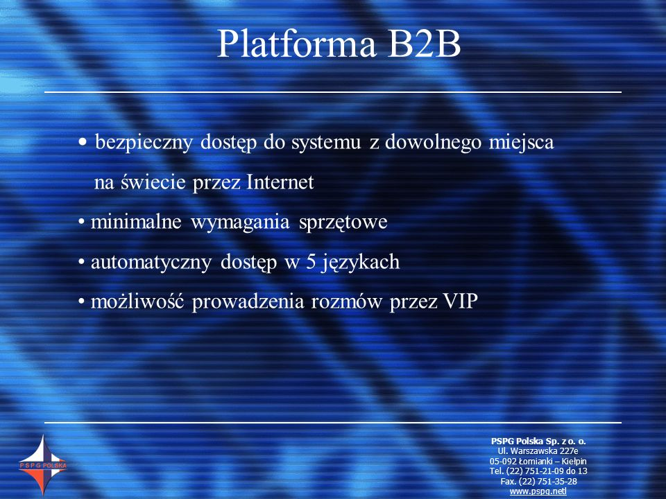 Platforma B2B bezpieczny dostęp do systemu z dowolnego miejsca
