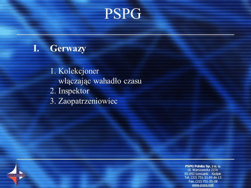 PSPG Gerwazy 1. Kolekcjoner włączając wahadło czasu 2. Inspektor