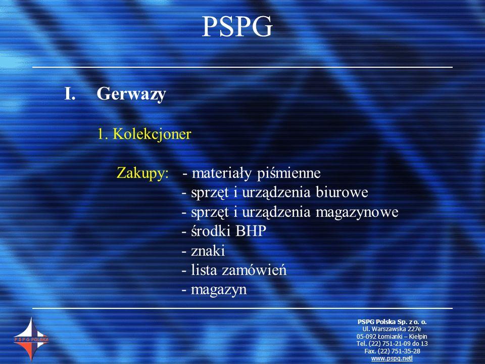 PSPG Gerwazy 1. Kolekcjoner