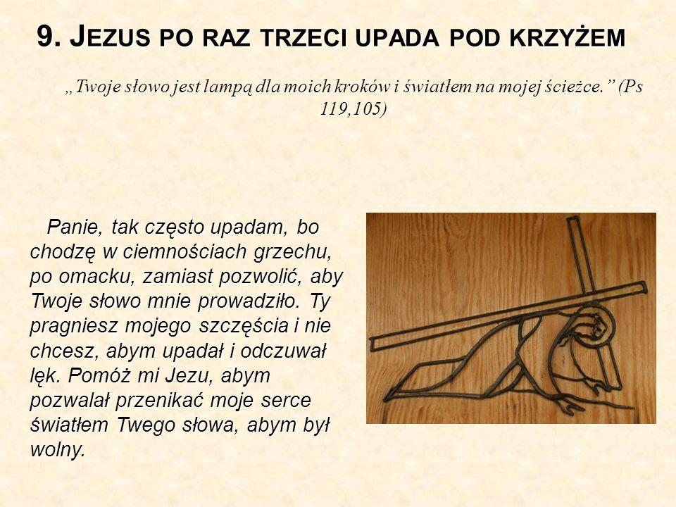 9. Jezus po raz trzeci upada pod krzyżem