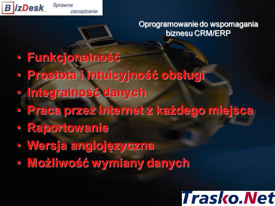 Oprogramowanie do wspomagania biznesu CRM/ERP