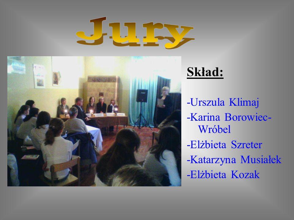 Jury Skład: -Urszula Klimaj -Karina Borowiec-Wróbel -Elżbieta Szreter