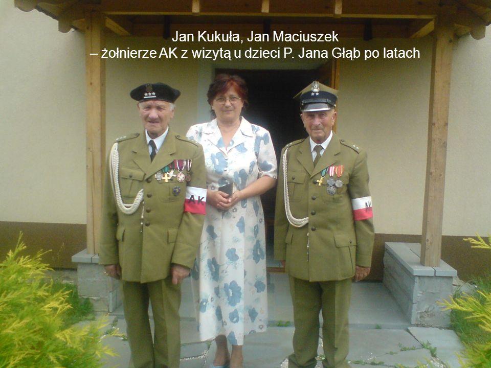 Jan Kukuła, Jan Maciuszek – żołnierze AK z wizytą u dzieci P