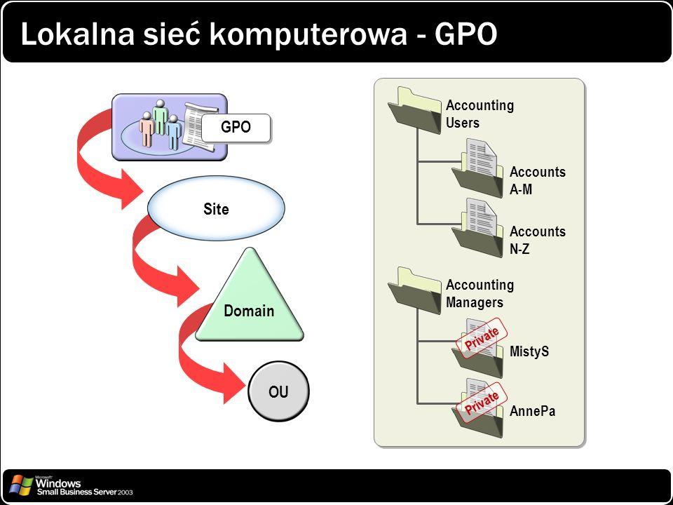 Lokalna sieć komputerowa - GPO