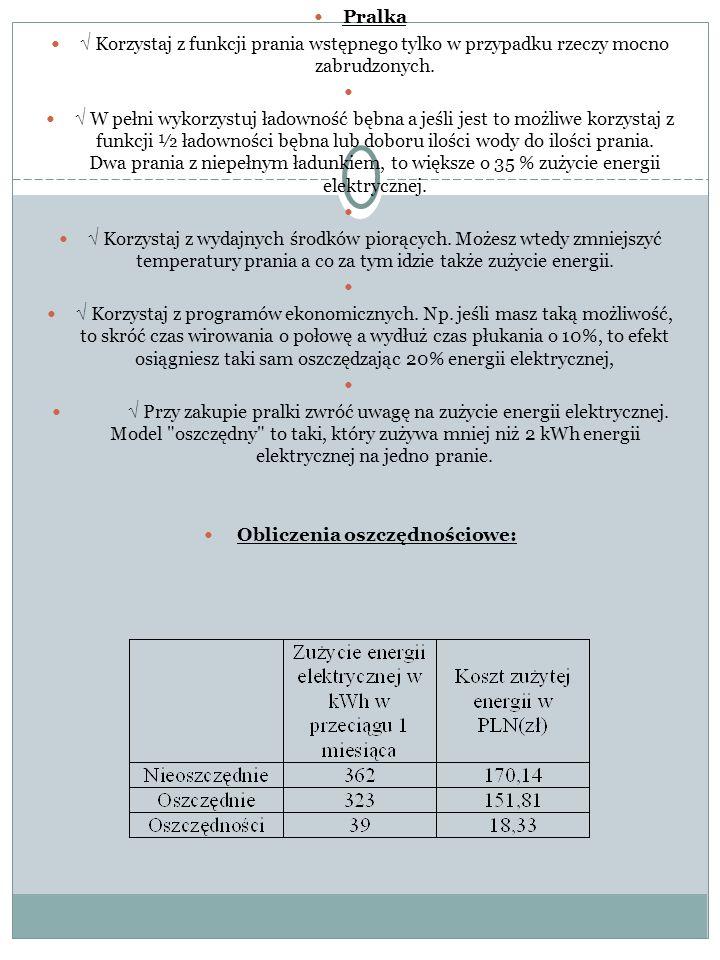 Obliczenia oszczędnościowe:
