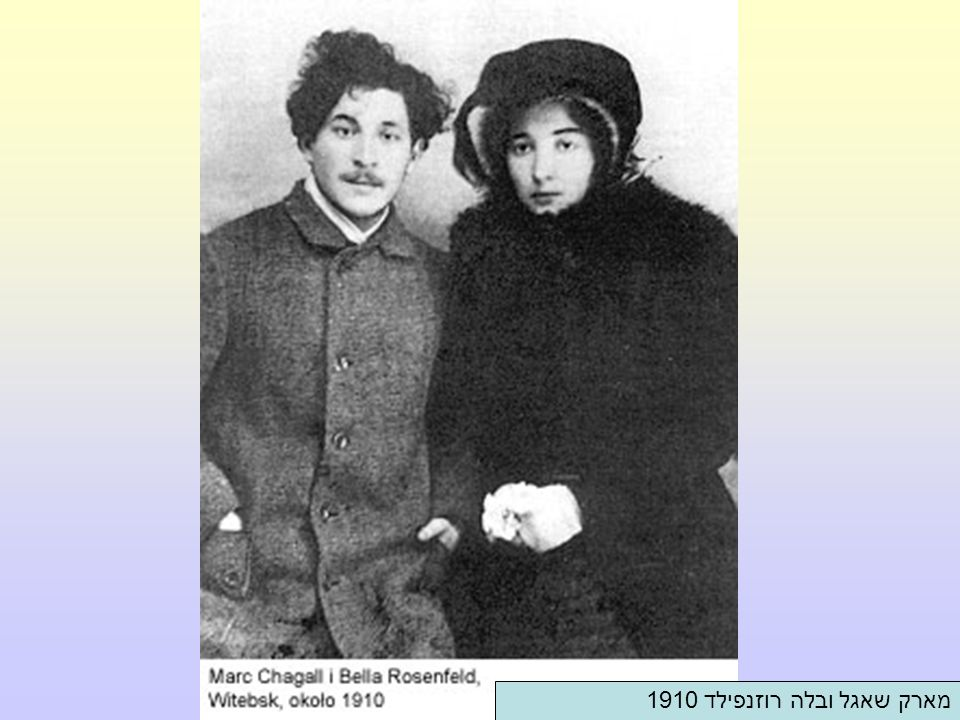 מארק שאגל ובלה רוזנפילד 1910