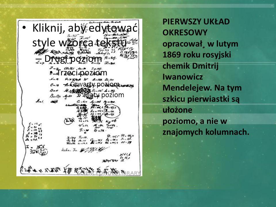 Kliknij, aby edytować style wzorca tekstu