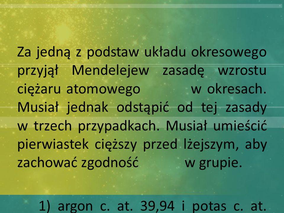 2) kobalt c. at. 58,94 i nikiel c. at. 58,69