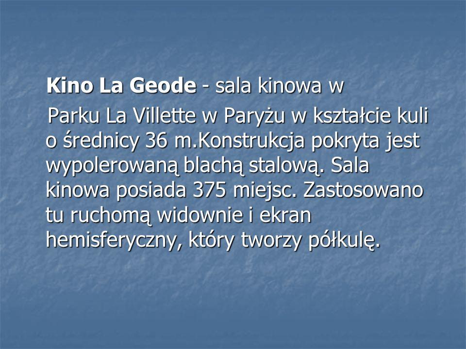 Kino La Geode - sala kinowa w