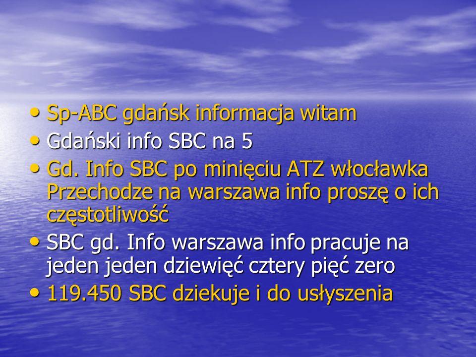 Sp-ABC gdańsk informacja witam