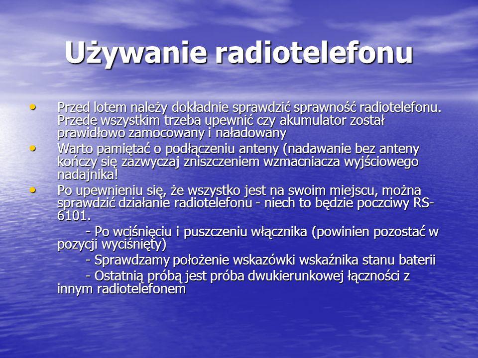 Używanie radiotelefonu