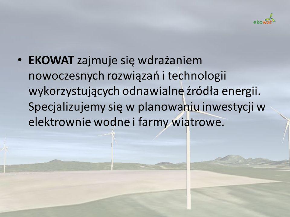 EKOWAT zajmuje się wdrażaniem nowoczesnych rozwiązań i technologii wykorzystujących odnawialne źródła energii.