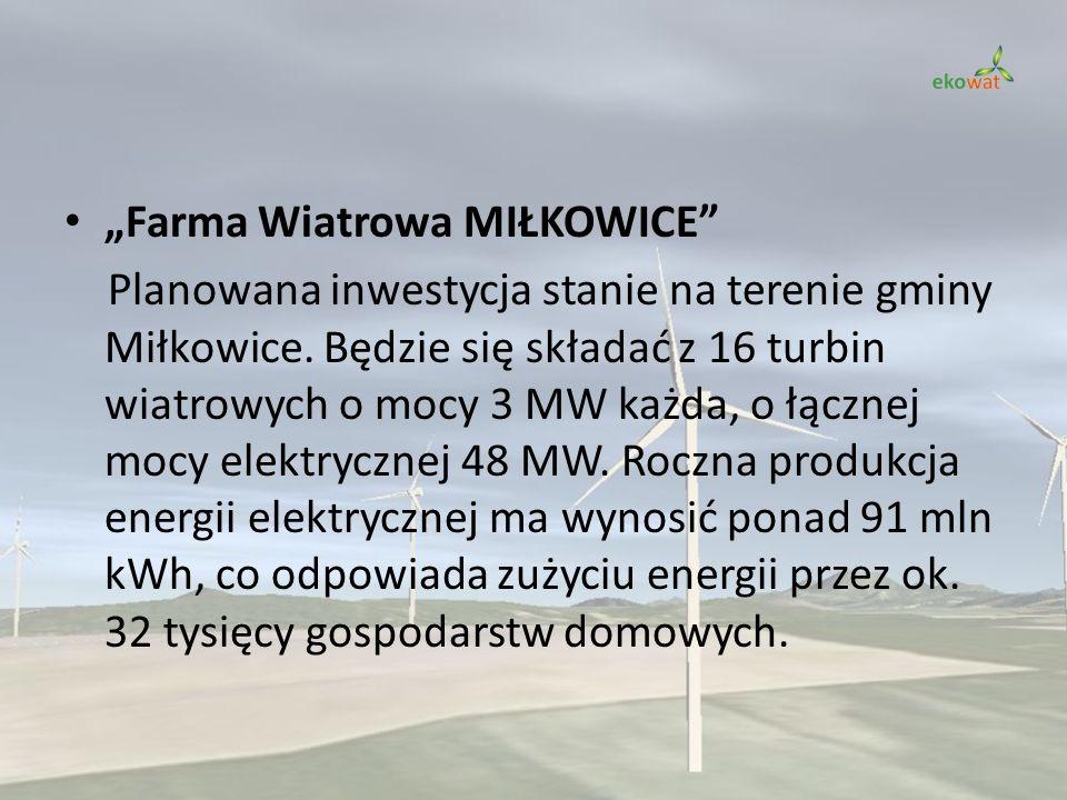 """""""Farma Wiatrowa MIŁKOWICE"""