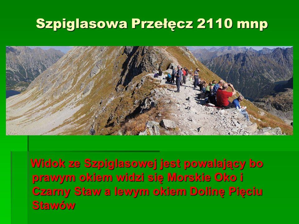 Szpiglasowa Przełęcz 2110 mnp