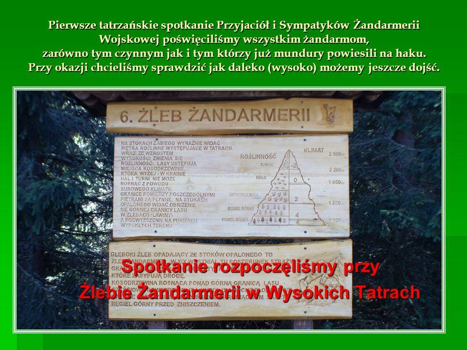 Spotkanie rozpoczęliśmy przy Żlebie Żandarmerii w Wysokich Tatrach