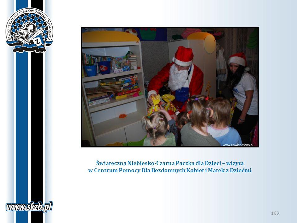 Świąteczna Niebiesko-Czarna Paczka dla Dzieci – wizyta w Centrum Pomocy Dla Bezdomnych Kobiet i Matek z Dziećmi